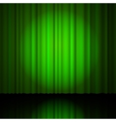 Green curtain from the theatre vector