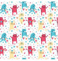 Happy birhday cats vector