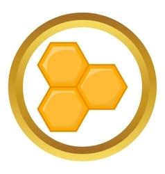 Honeycomb of bee icon vector