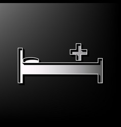 Hospital sign gray 3d vector