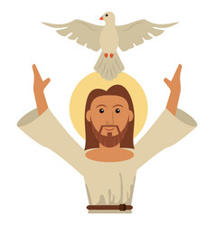 jesus christ holy spirit catholic symbol vector image
