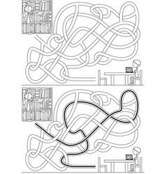 library maze vector image vector image