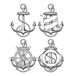 nautical anchor vector image