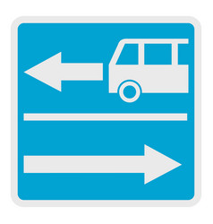 road for route auto icon flat style vector image vector image