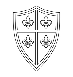 Royal shield icon outline style vector