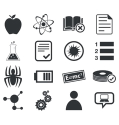 Science icon set 1 simple vector image vector image