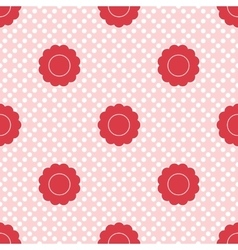 set of seamless patterns for kid girls vector image