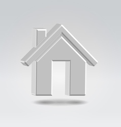 silver house icon vector image