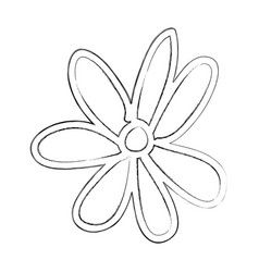 sketch draw flower cartoon vector image
