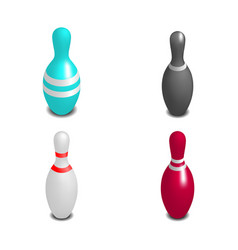 skittles for bowling 3d vector image