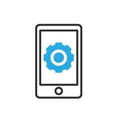 Smartphone icon mobile settings vector