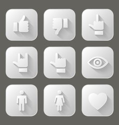 Social icons set vector image vector image
