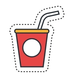 Soda fast food icon vector