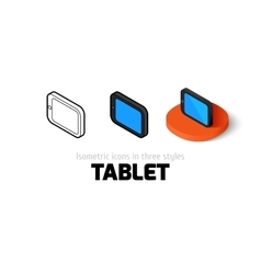 Tablet icon in different style vector image
