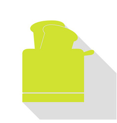 Toaster simple sign pear icon with flat style vector