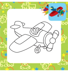 Toy plane for coloring vector image