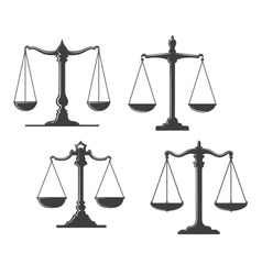 Vintage justice scales vector