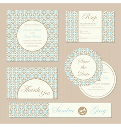 Wedding invitations set vector