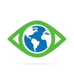 world eye logo vector image
