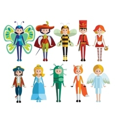 Kids and carnival costumes collection vector