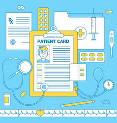 Patient card medical vector