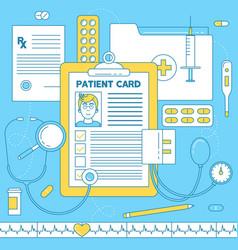 Patient card medical vector