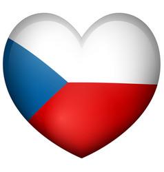 Badge design for czech republic in heart shape vector