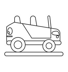 Convertible car icon image vector