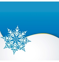 snowflake on a paper background vector image