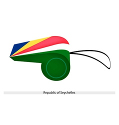 A whistle of the republic of seychelles vector