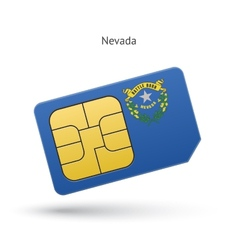 State of nevada phone sim card with flag vector