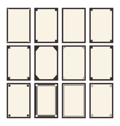 12 blanks template for your design vector