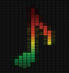 Music note on equalizer vector