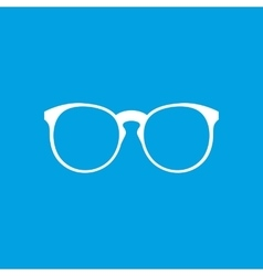 Eyeglasses white icon vector