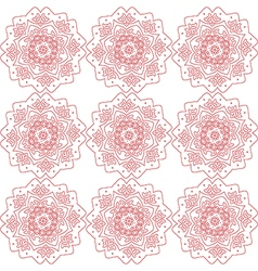 Red abstract flowers on the white backdrop vector