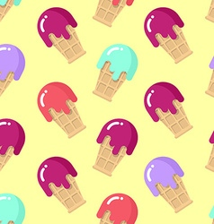 Peppermint ice cream seamless pattern strawberry vector