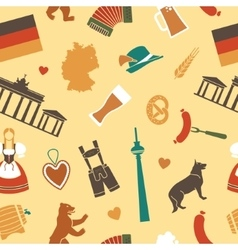 Seamless background with symbols of germany vector