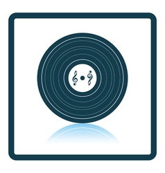 Analogue record icon vector