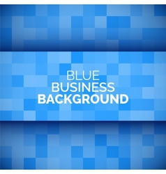 Abstract 3D business blue background vector image vector image