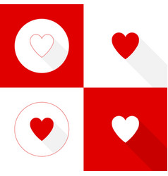 abstract background with red heart vector image