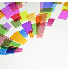 Abstract bright color squares fly vector