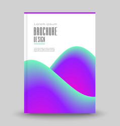 advertising brochure template vector image