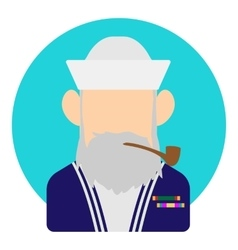 Avatar man sailor icon flat style vector