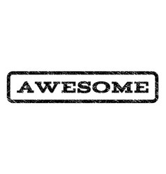 Awesome watermark stamp vector