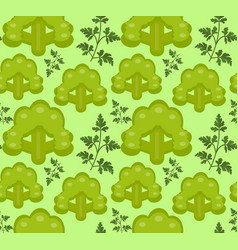 Broccoli seamless pattern healthy food endless vector