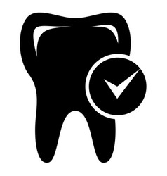 Cavity tooth icon simple style vector