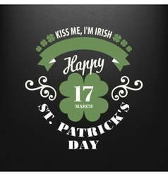 Chalk typographic design for St Patrick Day vector image vector image