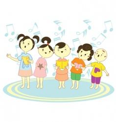 choir kids vector image