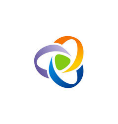 Circle curl abstract technology logo vector