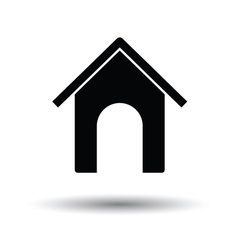 Dog house icon vector image
